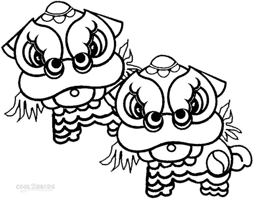 Printable Chinese New Year Coloring