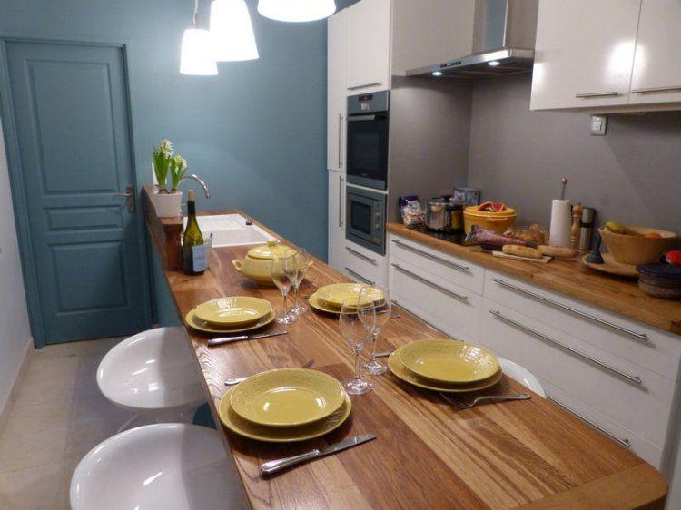 Cuisine familiale toute en longueur kitchen en 2019 cuisine en longueur id e d co cuisine - Idee cuisine en longueur ...