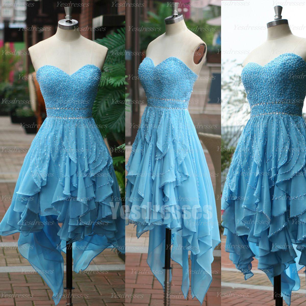 Blue prom dress pretty prom dress hilo prom dress beautiful prom