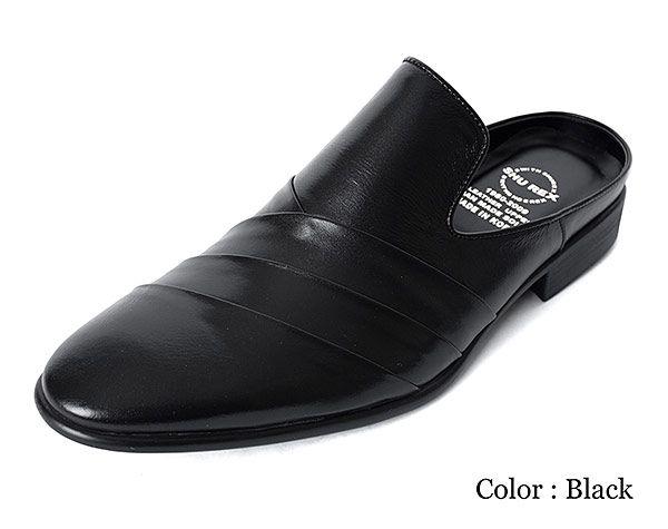 Black dress mules shoes