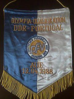 em Abril de 1988, a selecção olímpica defrontou a então RDA (República Democrática Alemã)