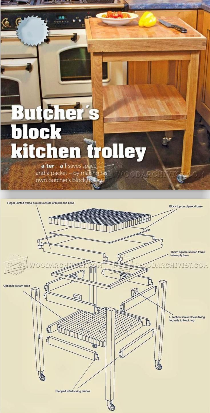 Butchers Block Kitchen Trolley Plans Furniture Plans And Projects Woodarchivis Woodworking Furniture Plans Woodworking Plans Woodworking Projects Furniture