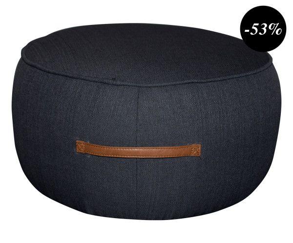 Pouf LEON bois de bouleau, gris anthracite - Ø60 | SALON | Pinterest ...