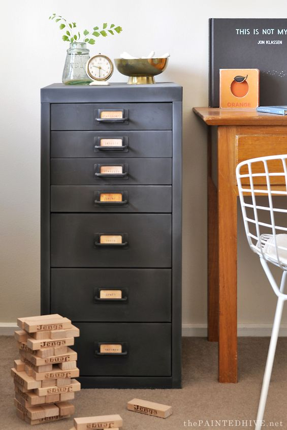 Modern Metal To Farmhouse Fab File Cabinet Makeover The Boys Treasures