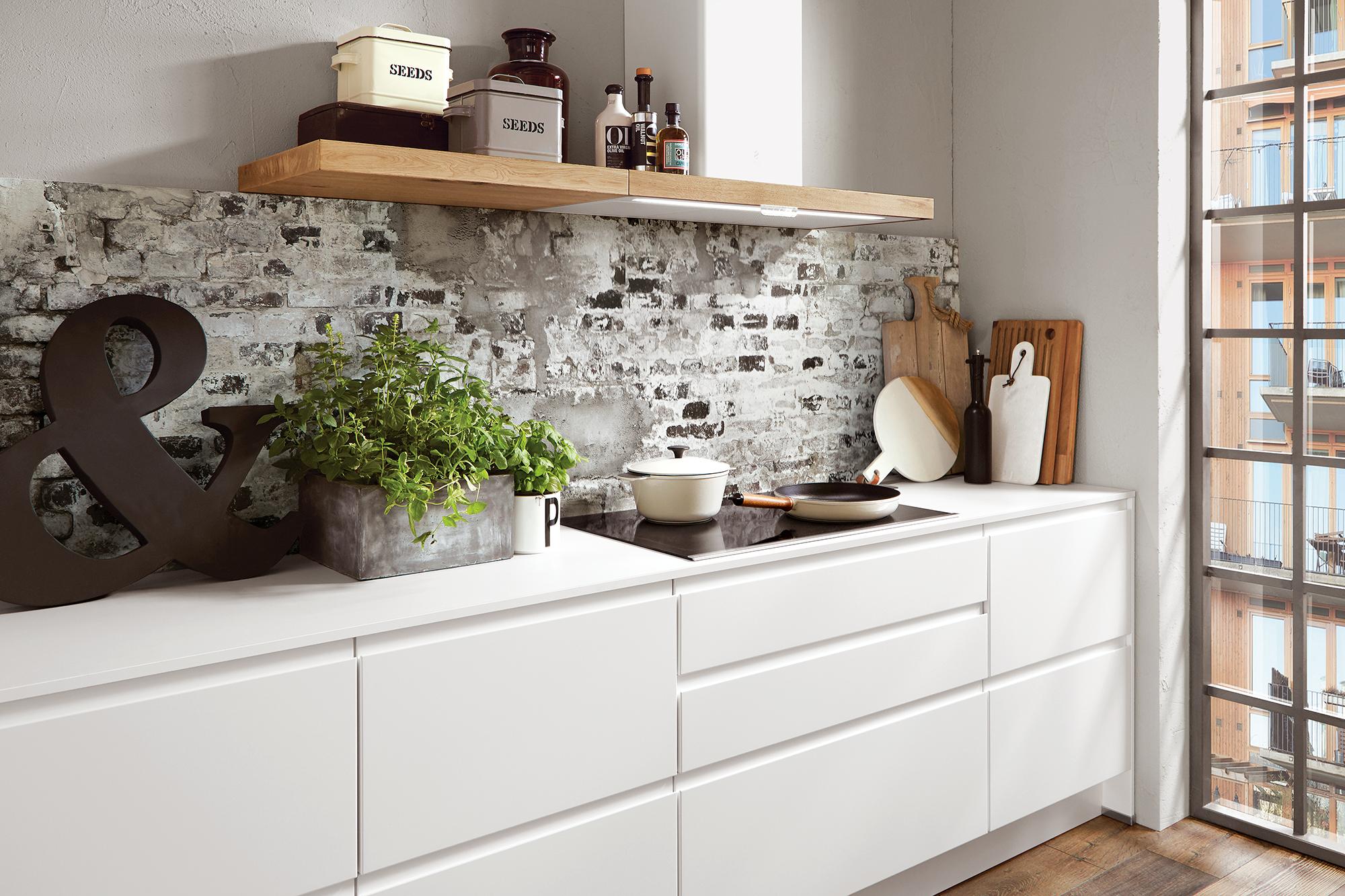 Environnement industriel chic grâce à la cuisine moderne et design ...