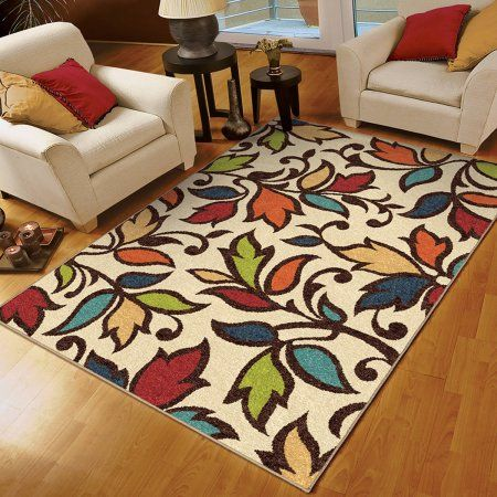 Orian Rugs Indoor Outdoor Dicarna Cream Leaves Area Rug At