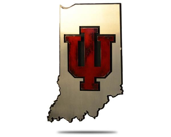 Classic Indiana University Wall Art Perfect For Any Hoosiers Fan S Home Office Or Fan Cave Layered Steel Constructi Metal Artwork Indiana University Artwork