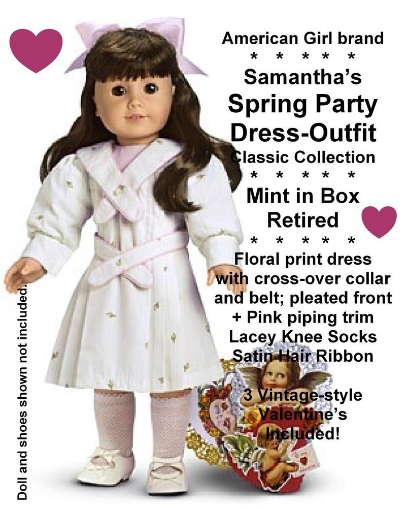 American Girl PRETTY PINK Valentine/'s Love DRESS OUTFIT ~ NIB