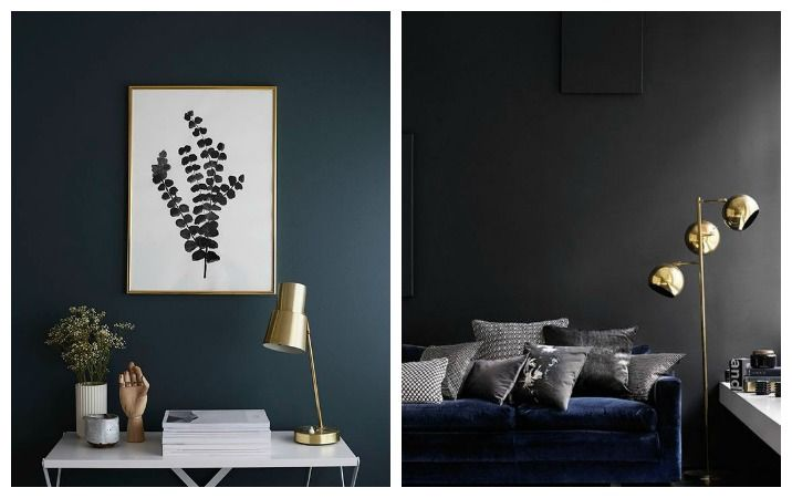 How to Style Dark Walls