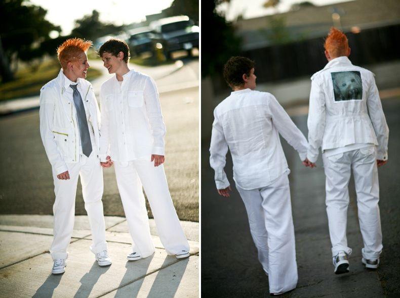 casual lesbian wedding suit | White Wedding Suits for Women ...
