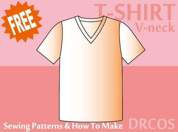 Tshirt60Vneck Sewing Patterns How To Make DIY Clothes For Me Impressive How To Make Sewing Patterns