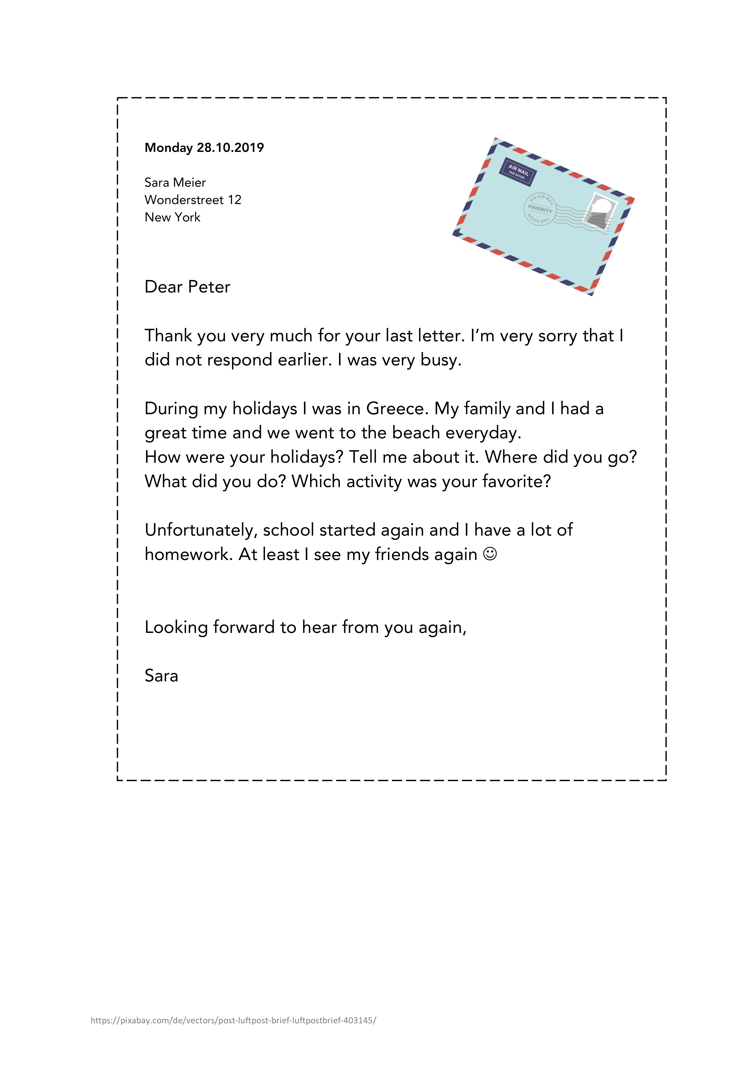 Letter To A Friend Englisch Activity Unterrichtsmaterial Im Fach Englisch In 2020 Lettering Unterrichtsmaterial Englischunterricht