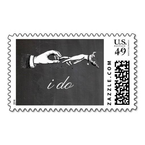 I Do Vintage Wedding Ring Stamp Vintage weddings Wedding sets and