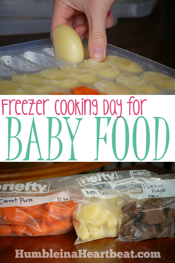 Baby Food Freezer Cooking Day