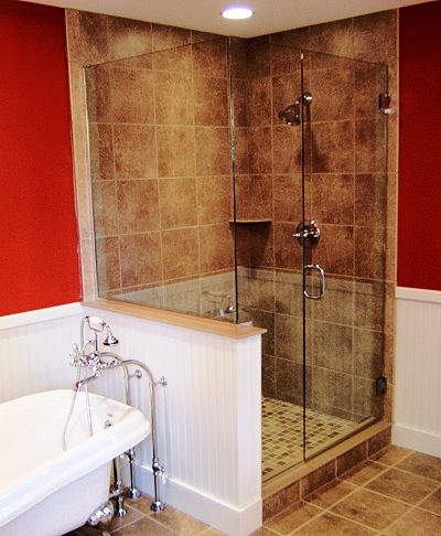 Shower Glass Half Wall Google Search New House