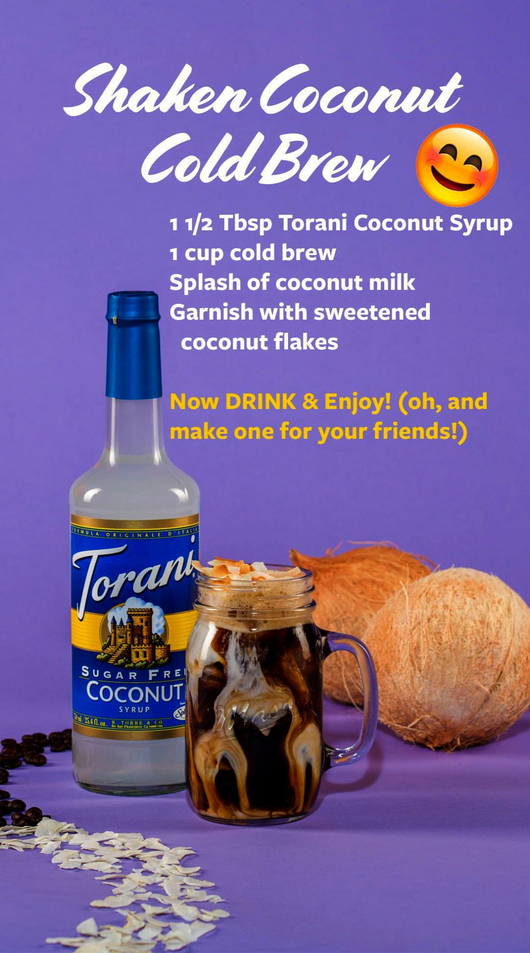 How to make coffee even more enjoyable coconut syrup