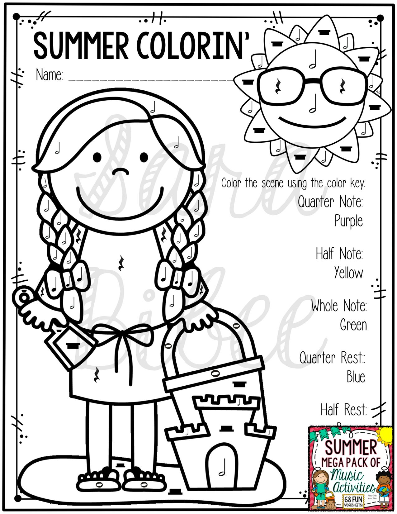 Summer Mega Pack Of Music Worksheets 82 Pages