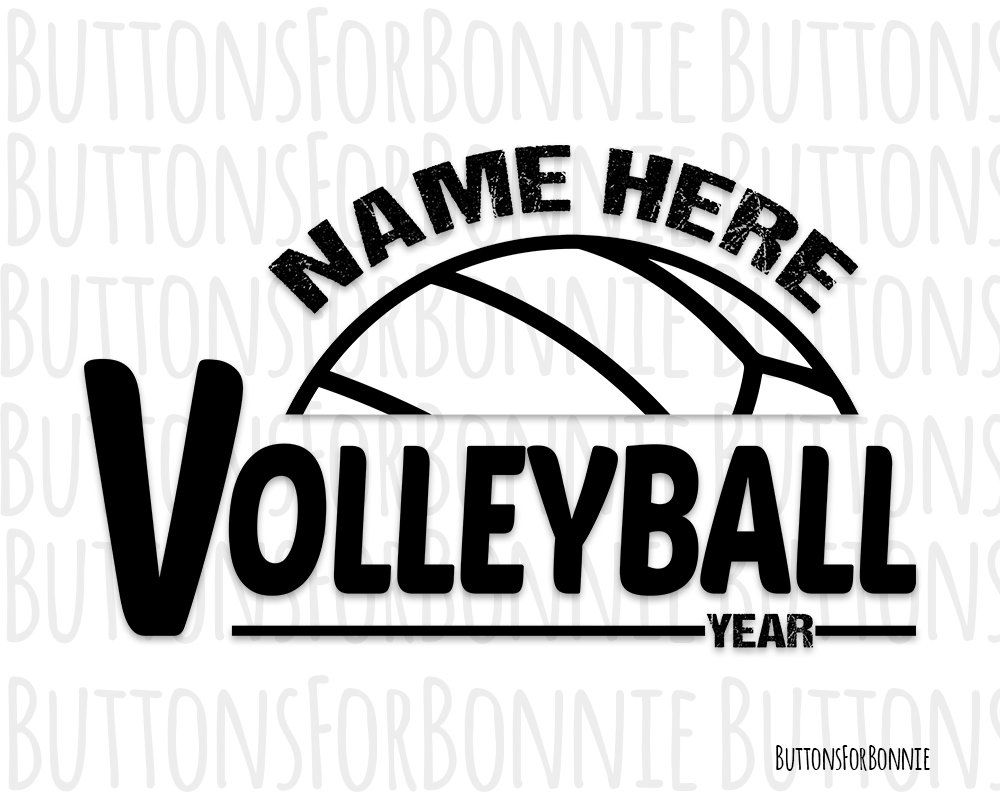 Volleyball Svg Volleyball Vector Volleyball Emblem Etsy In 2020 Volleyball Designs Volleyball T Shirt Printing Company