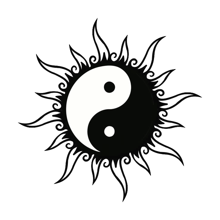 sun and moon together drawings Google Search Yin yang