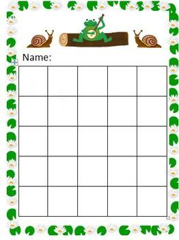 graphic about Free Printable Sticker Chart identify Free of charge Frog with banjo sticker chart Schooling Plans