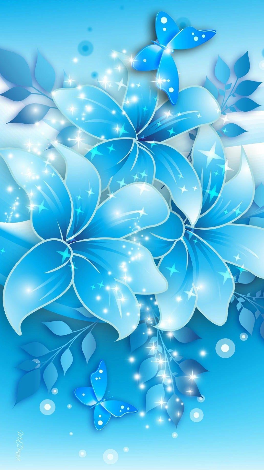 Blue Flower iPhone Wallpaper Best iPhone Wallpaper