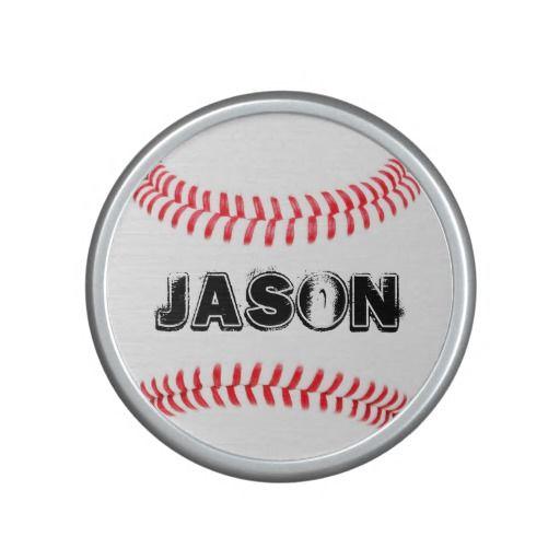 Custom #Baseball Bluetooth and NFC Speaker! $39.95 on Zazzle. Enter any name you want in the text box. #baseballgifts #customspeaker