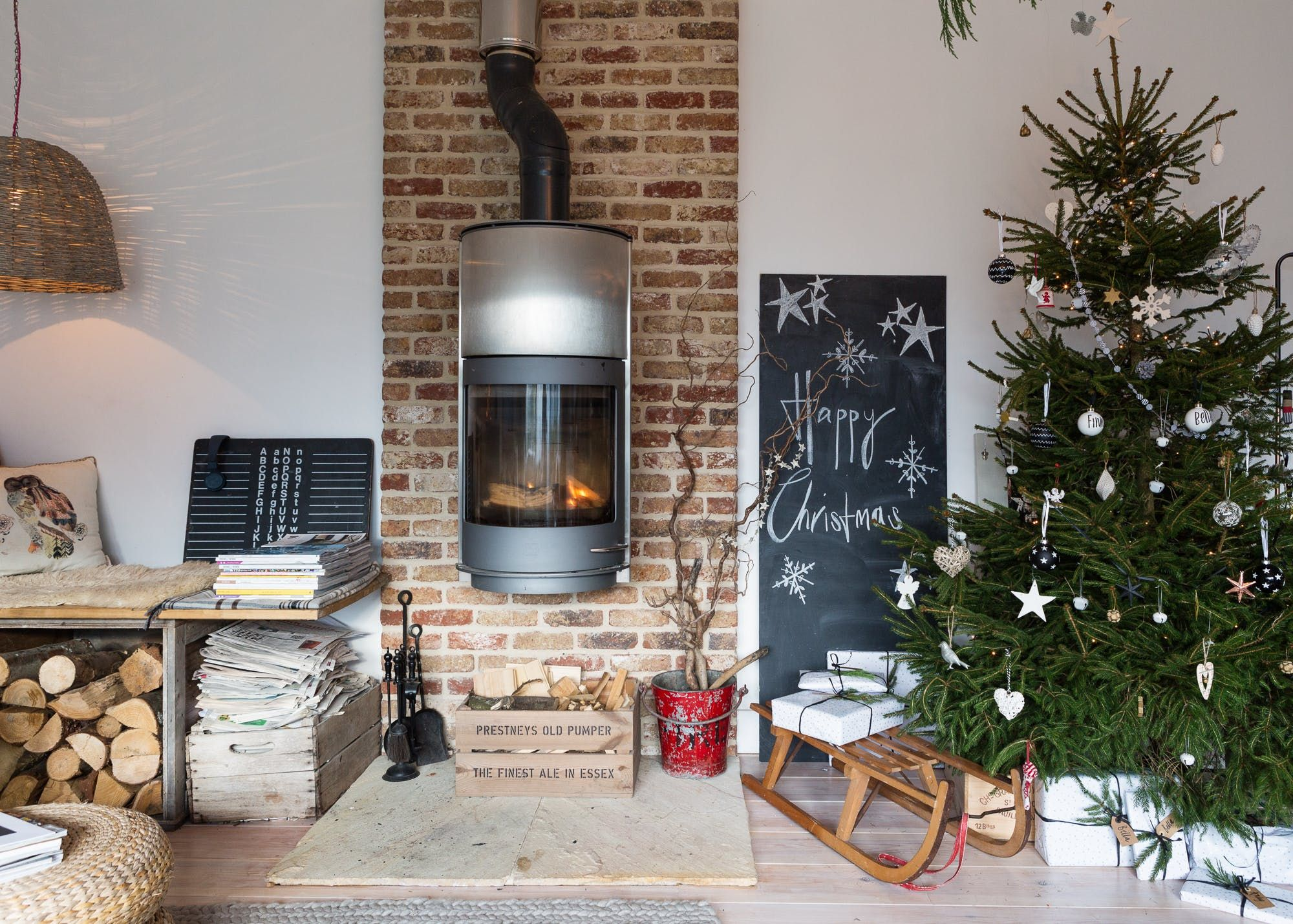House Tour: Christmas in a Rustic Modern English Home