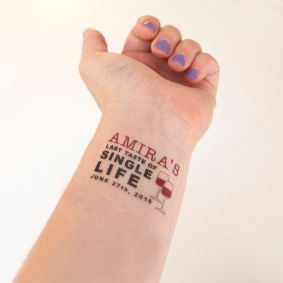 Bachelorette Party Temporary Tattoos Last Taste Of Single Life
