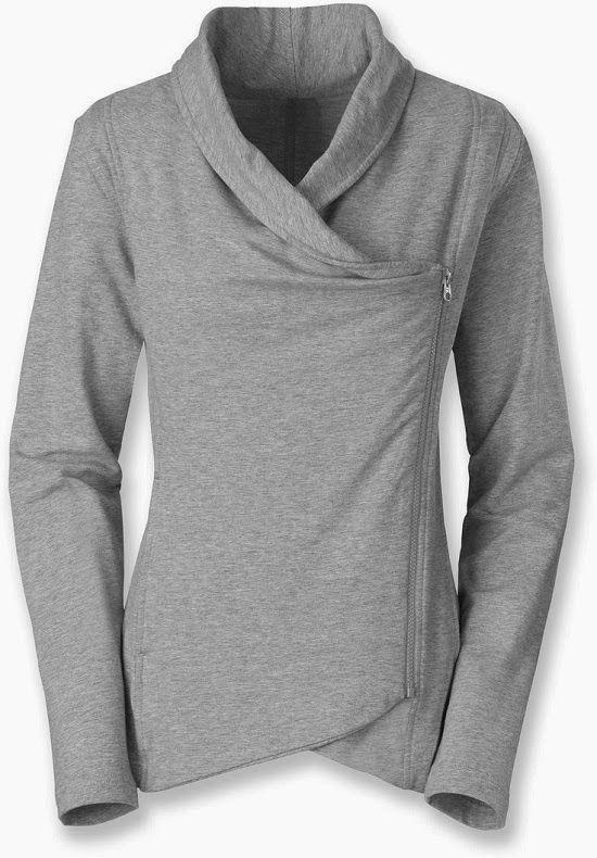 b1d0aa5ed7 North Face Light Grey Side Zip Jacket