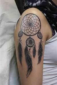 Dreamcatcher Tattoo- I would do it watercolor style