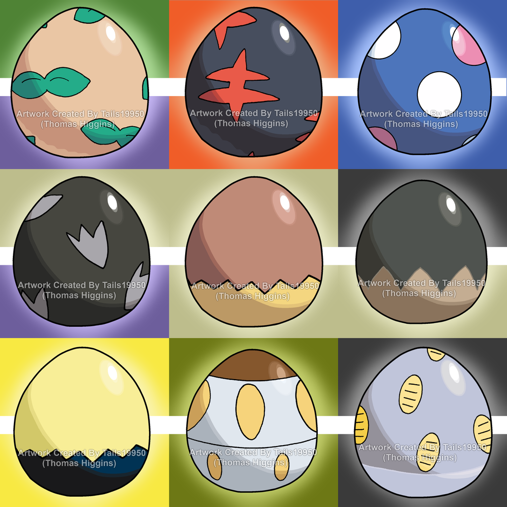 Alolan Pokemon Eggs Part 1 By Tails19950 On Deviantart Pokemon Eggs Pokemon 150 Pokemon