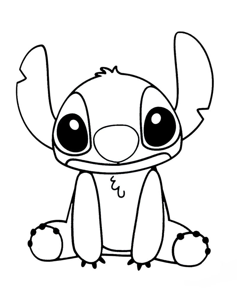 Disney Coloring Pages Stitch Dibujos Bonitos Dibujos Kawaii