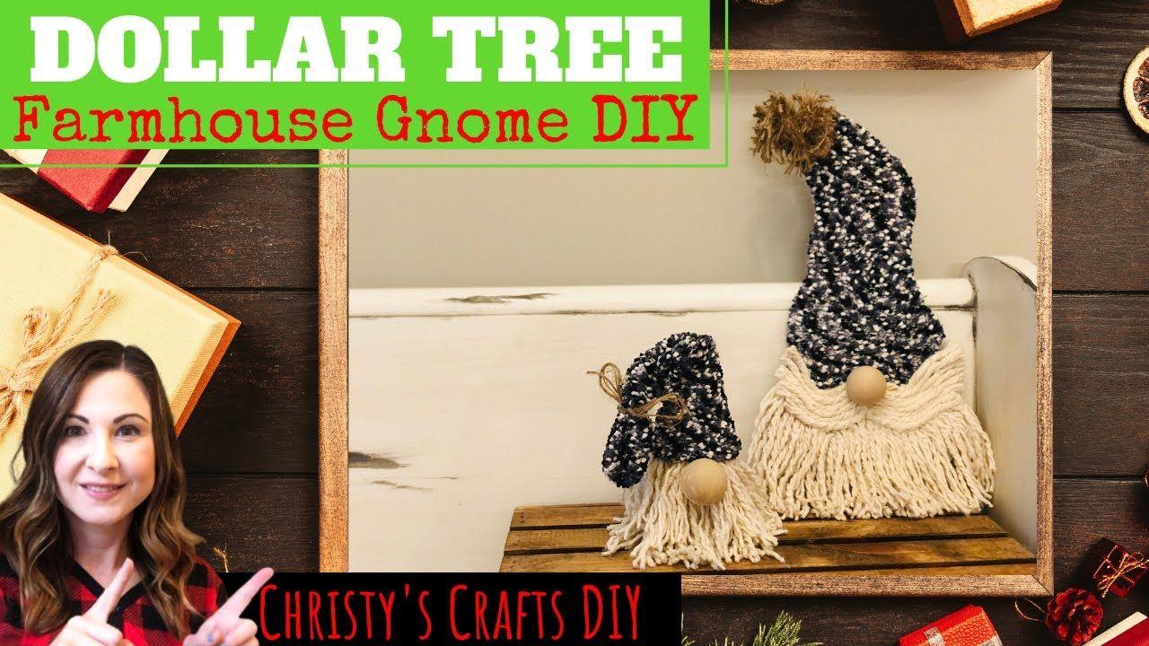 DOLLAR TREE CHRISTMAS GNOME DIY How to make Christmas