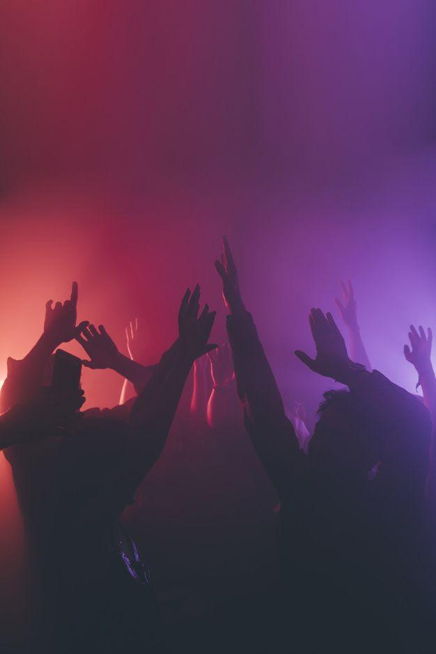 Crowd in nightclub Free Photo