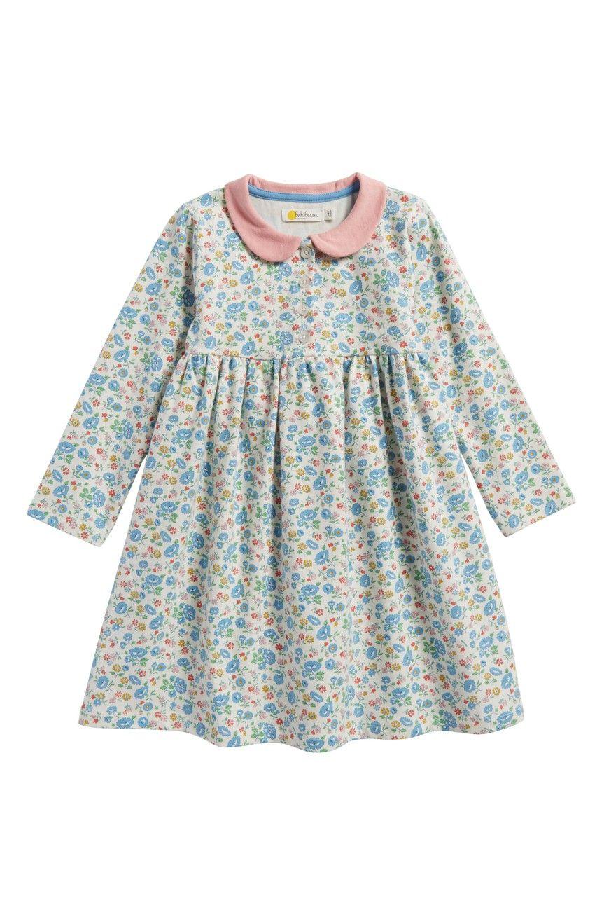 582bffae0 Mini Boden Pretty Peter Pan Collar Jersey Dress (Baby Girls & Toddler Girls)  | Nordstrom