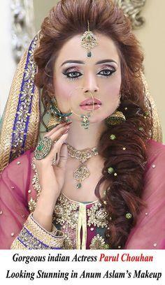 Pakistani Bridal Look By Kashee S Bridal Hair And Makeup Bridal Makeup Pakistani Bridal Hairstyles