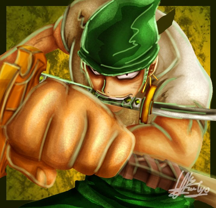 1 hours speed painting Roronoa Zoro One Piece by nerrochan on DeviantArt