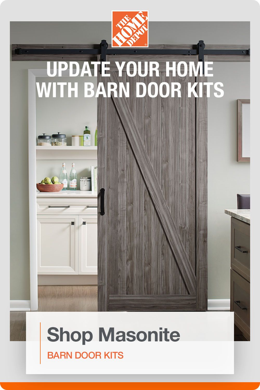 Quickly And Easily Update Your Home With Masonite Barn Door Diy Kits In 2020 Interior Design Bedroom Small Diy Barn Door Diy Barn Door Cheap
