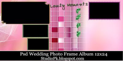 wedding album templates for photoshop free download