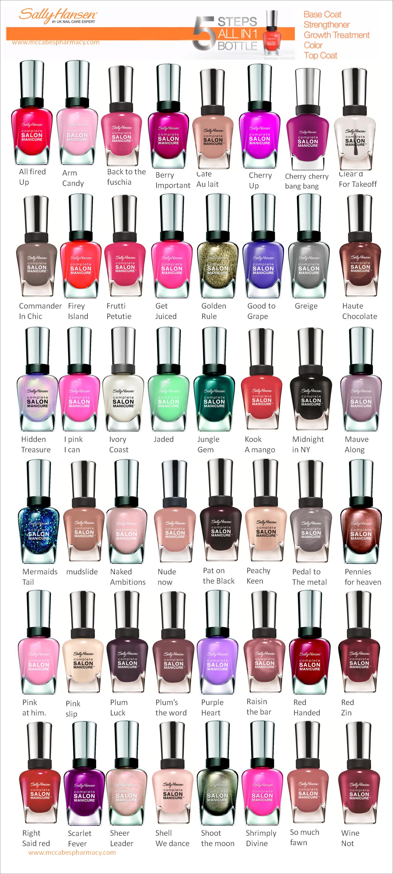 Sally Hansen Nails Complete Salon Manicure Polish Makeup