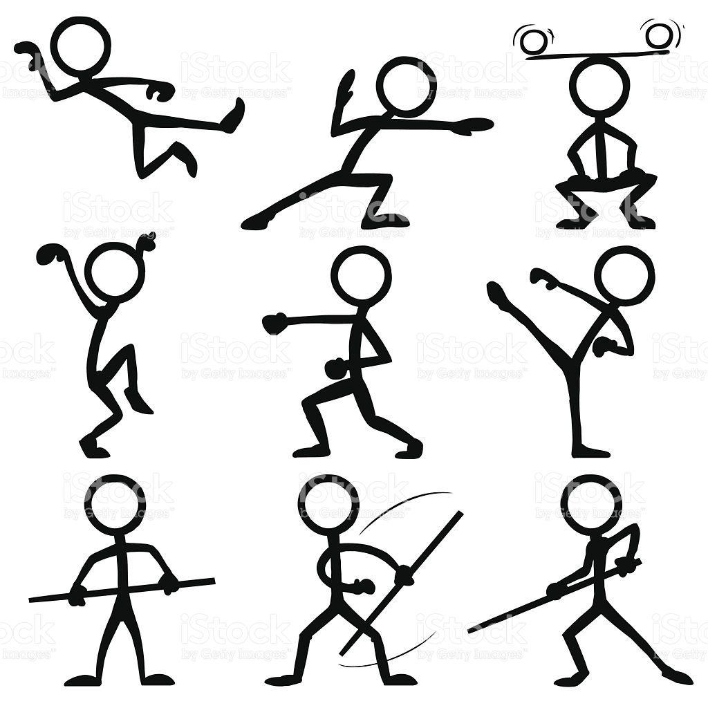 Stickfigures doing Kung Fu Ey°