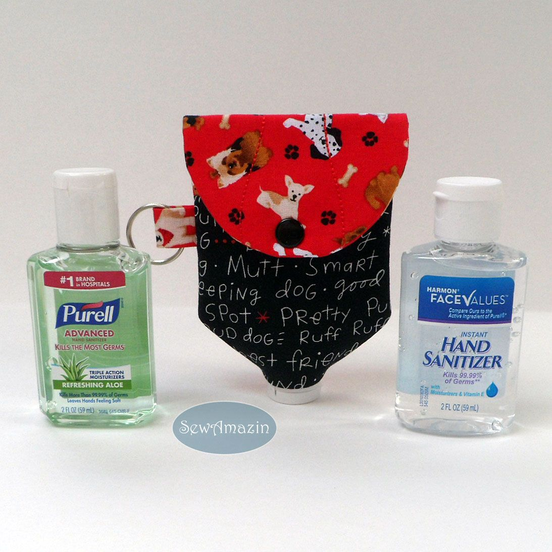 Dog Lovers Large Hand Sanitizer Or Lotion Holder For 2 Oz Bottles