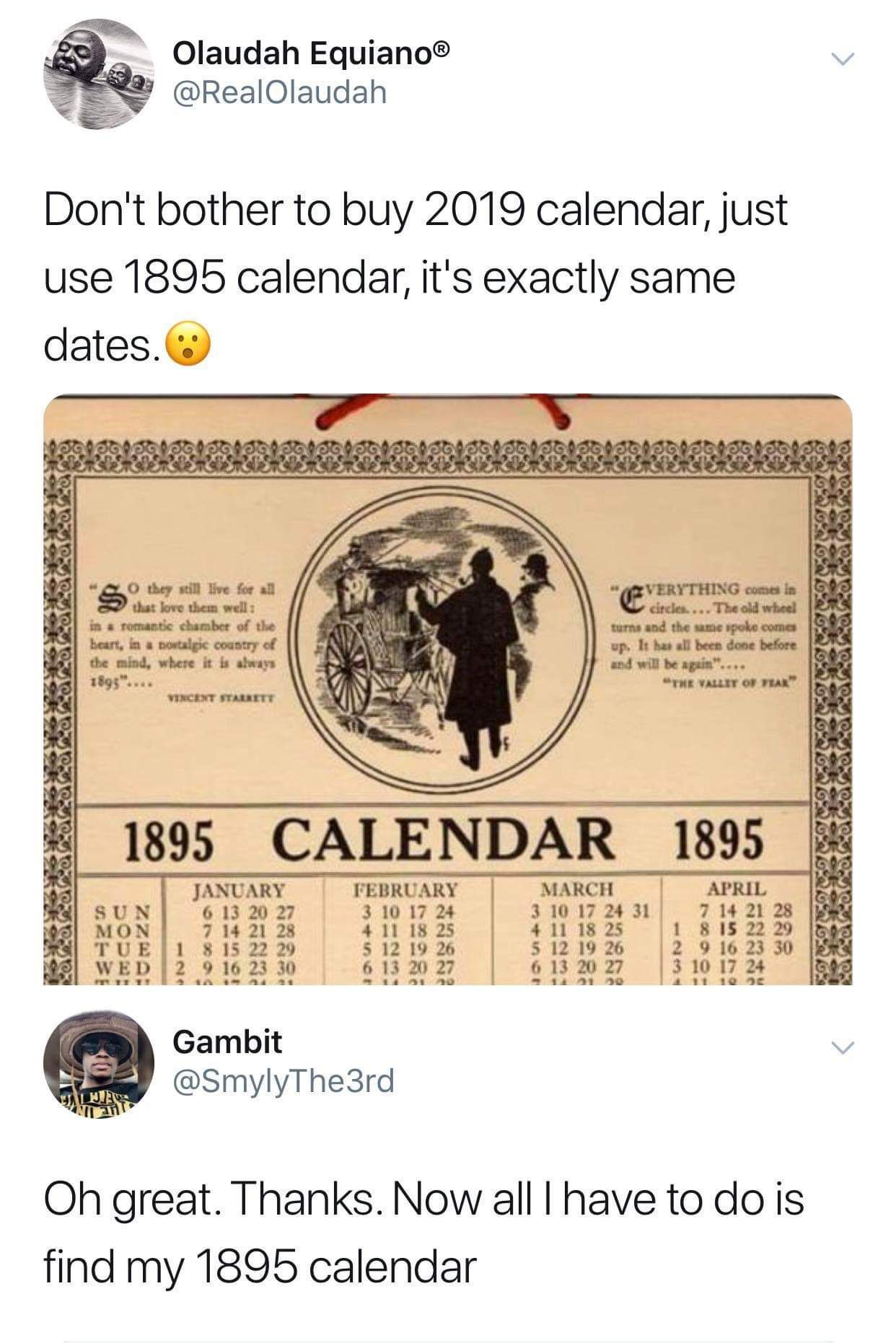 Just Use The 1895 Calendar Funny Memes Video Gifs Pics Lol Interesting Funny Relatable Memes Funny Haha Funny