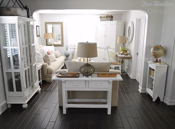 Cottage Bungalow Home Made Over With DIY Projects And Budget Friendly Finds    Fall Decorating At