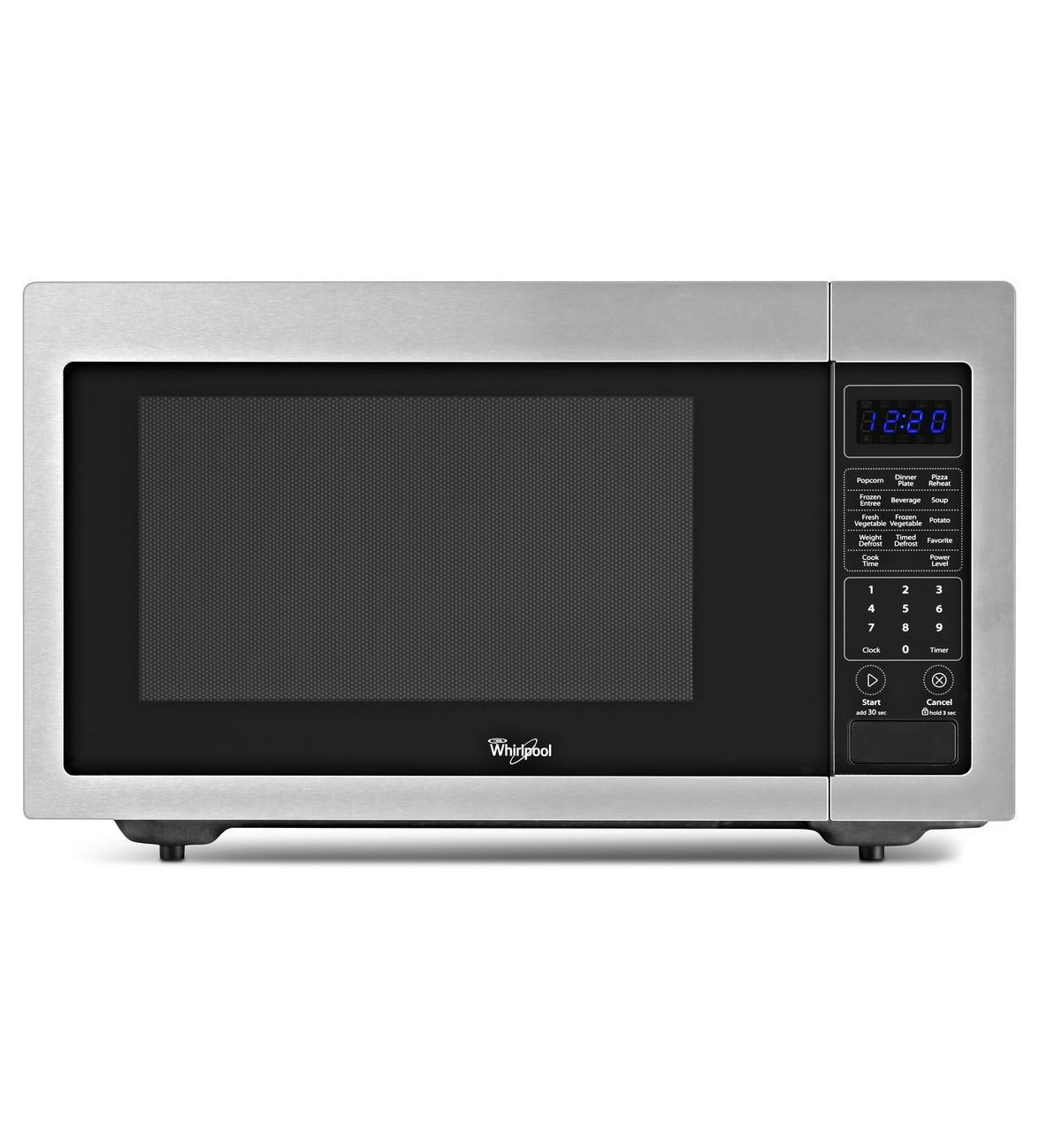 Whirlpool 1 6 Cu Ft Countertop Microwave With 1 200 Watts Cooking Power Wmc30516as Stainless Steel Countertop Microwave Oven Countertop Microwave Microwave