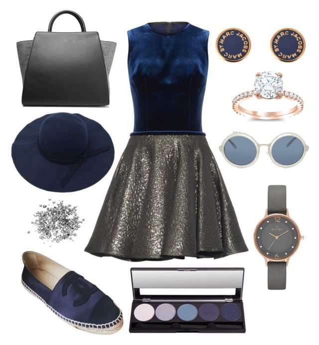 """🍒🍒🍒"" by sizzlingliz ❤ liked on Polyvore featuring Emilio De La Morena, Chanel, Marc by Marc Jacobs, ZAC Zac Posen, 3.1 Phillip Lim and Skagen"