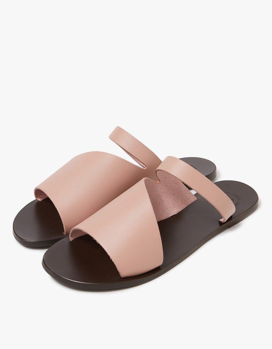 cut-out toe slides - Pink & Purple ATP Atelier m0gZdGA
