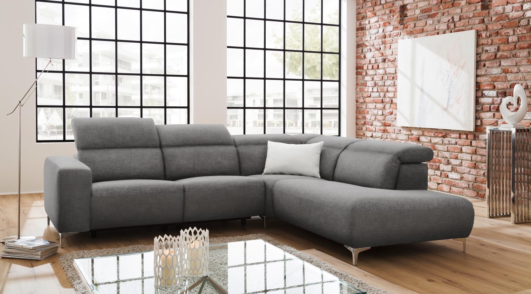 Wohnlandschaft In Textil Grau Sofa Couch Modern Interior Und Sofa
