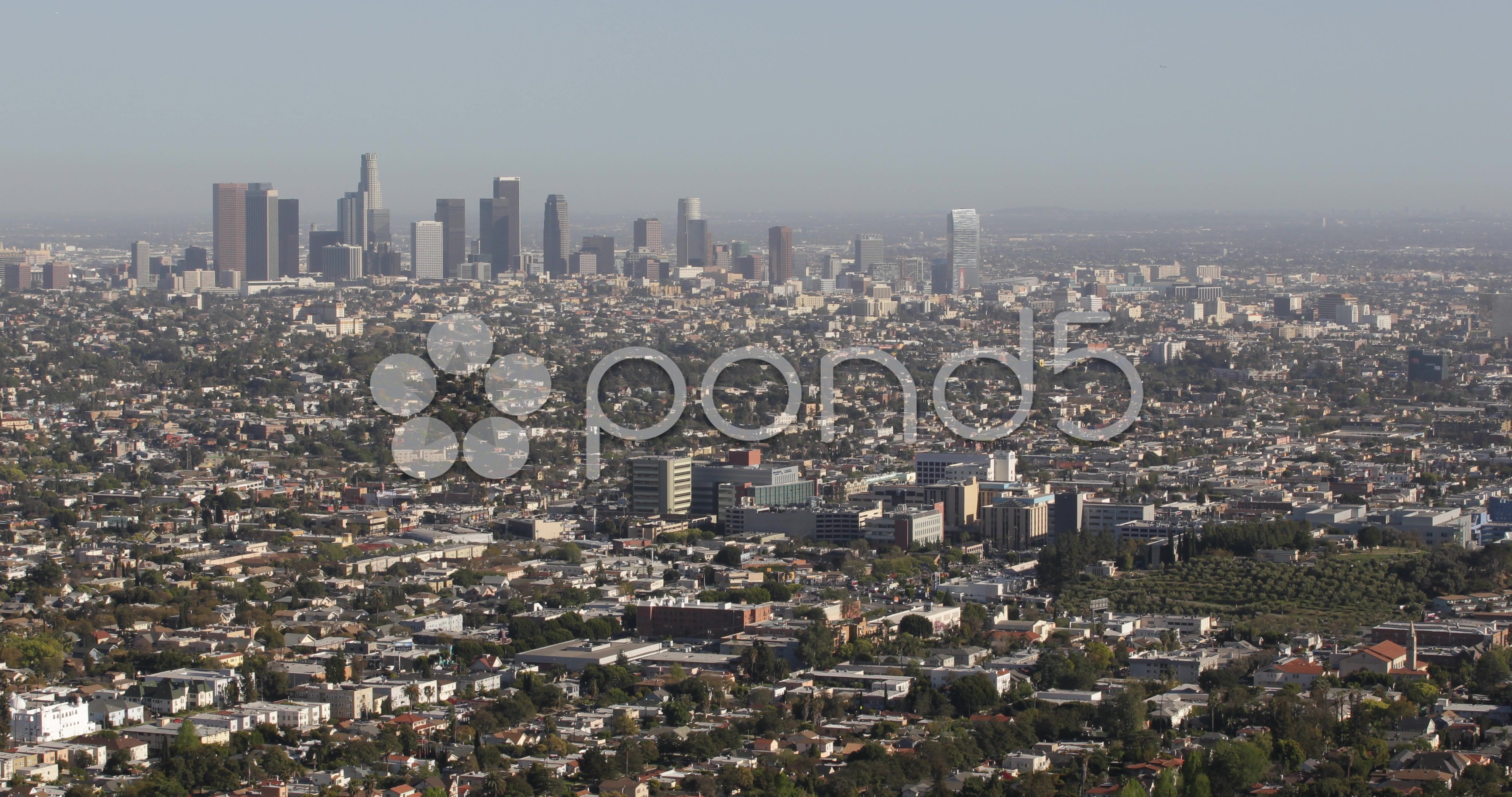Ultra Hd 4k Aerial View Downtown Los Angeles Corporate Skyline Skyscrapers Stock Footage View Downtown Los Ultra Aerial View Skyline Downtown Los Angeles