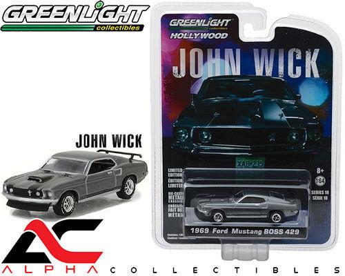 GREENLIGHT 44780-E 1:64 1969 FORD MUSTANG BOSS 429 JOHN WICK MOVIE 2014